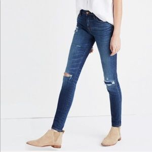 NWOT Madewell Distressed High Rise Skinny Jeans